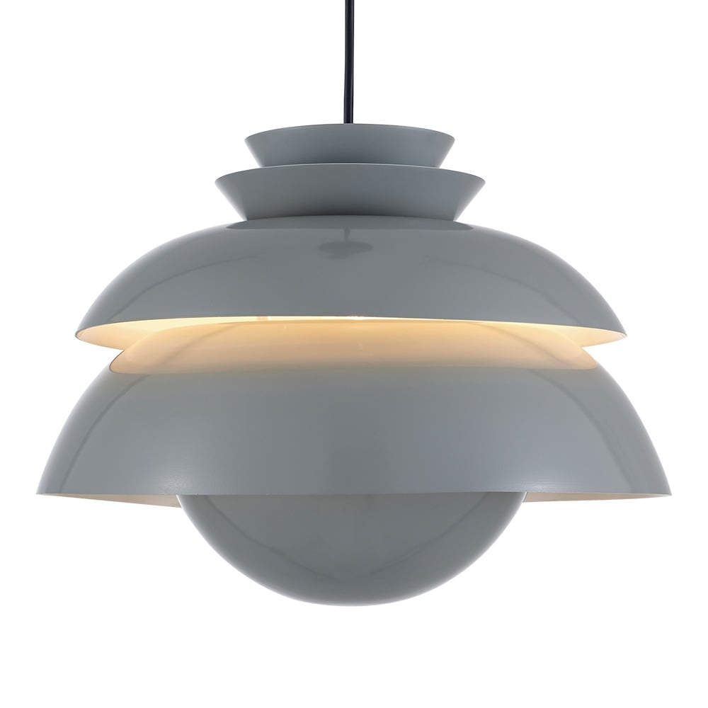 Metal Pendant Lighting Kasa Metal Dome Pendant Light Grey Cult Furniture Uk