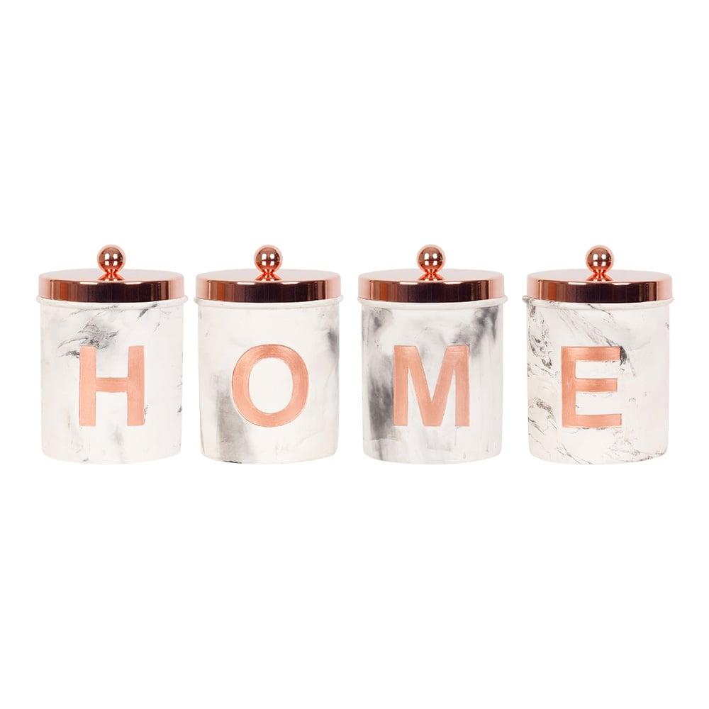 Home Concrete Jars Set Of 4 Copper Cult Furniture Uk