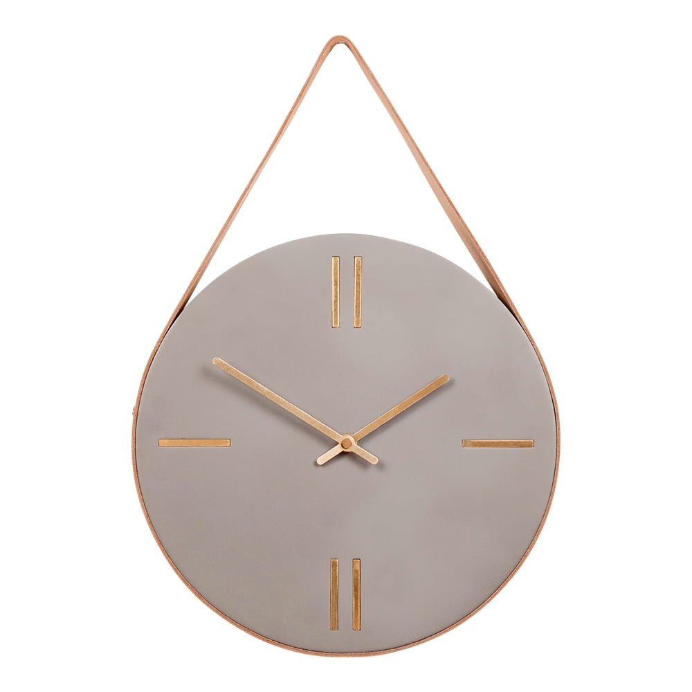 concrete hanging wall clock gold cult furniture uk. Black Bedroom Furniture Sets. Home Design Ideas