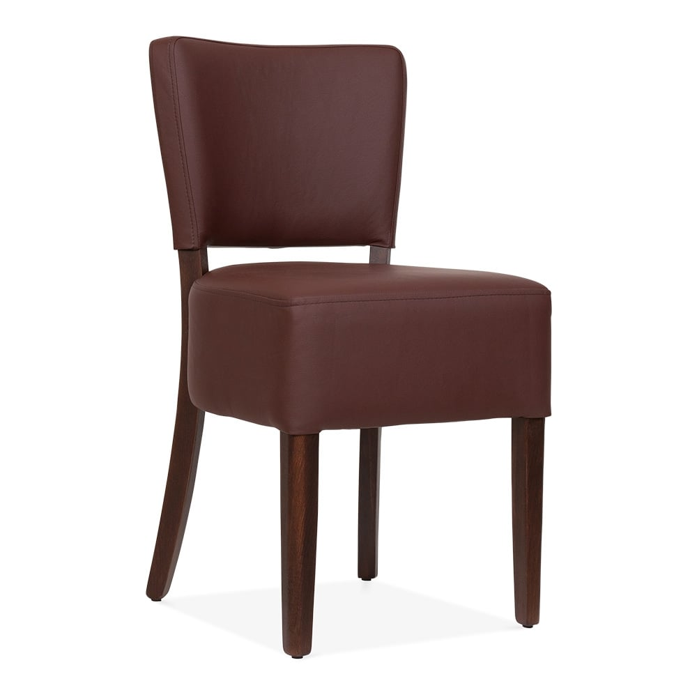 Borza upholstered dining chair brown cult furniture uk - Cult furniture ...
