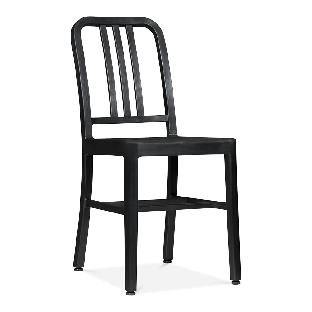 Metal Dining Chairs Industrial metal dining chair 1006 matte black | restaurant chairs | cult uk
