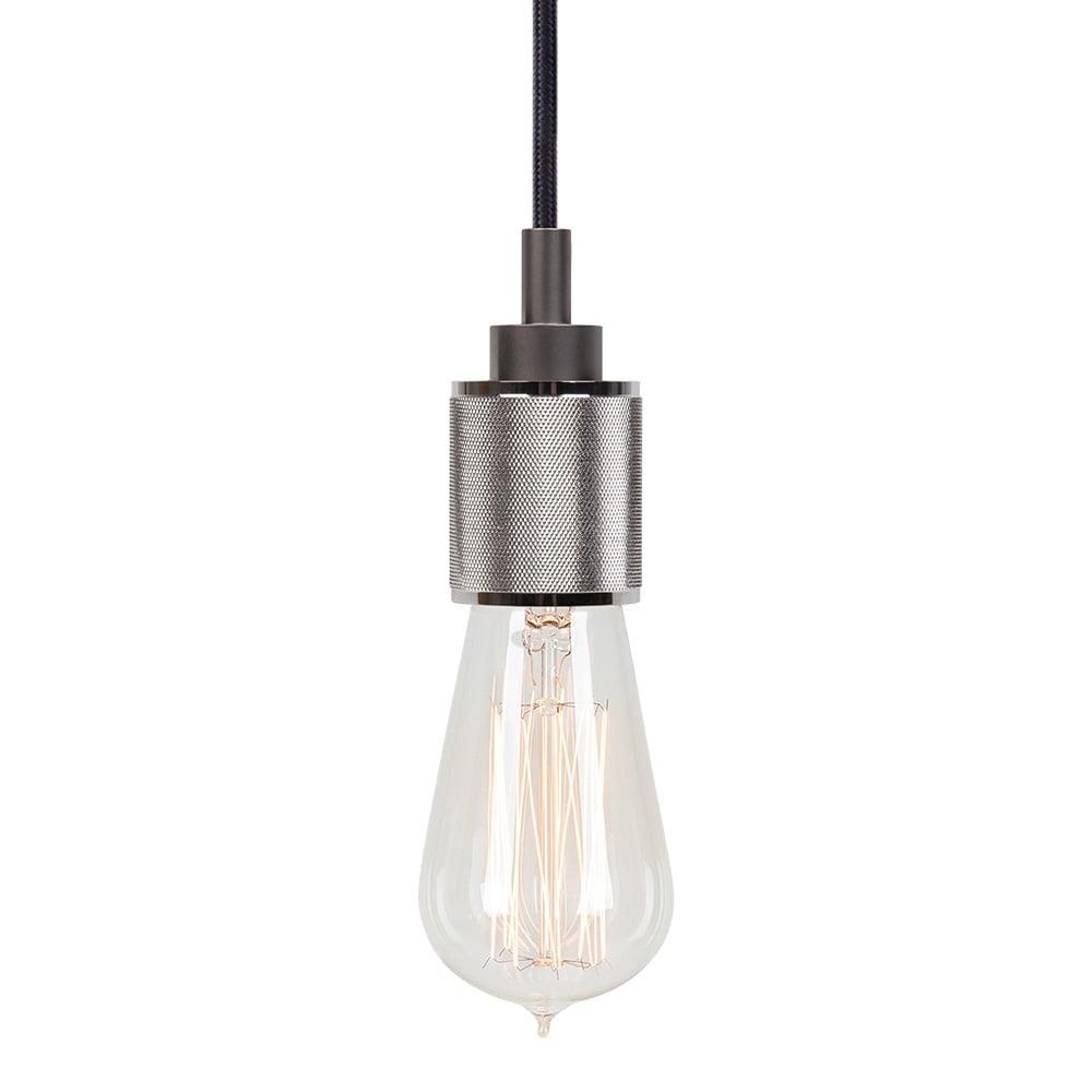 Metal Pendant Lighting Chrome Lumor Metal Bulb Holder Pendant Light Bar Restaurant Lights