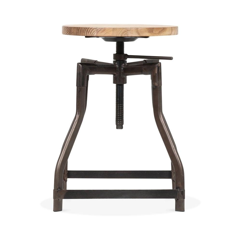Industrial Swivel Adjustable Stool - Rustic 45cm. u2039  sc 1 st  Cult Furniture & Machinist Industrial Swivel Adjustable Stool Rustic 45cm | Cult UK islam-shia.org