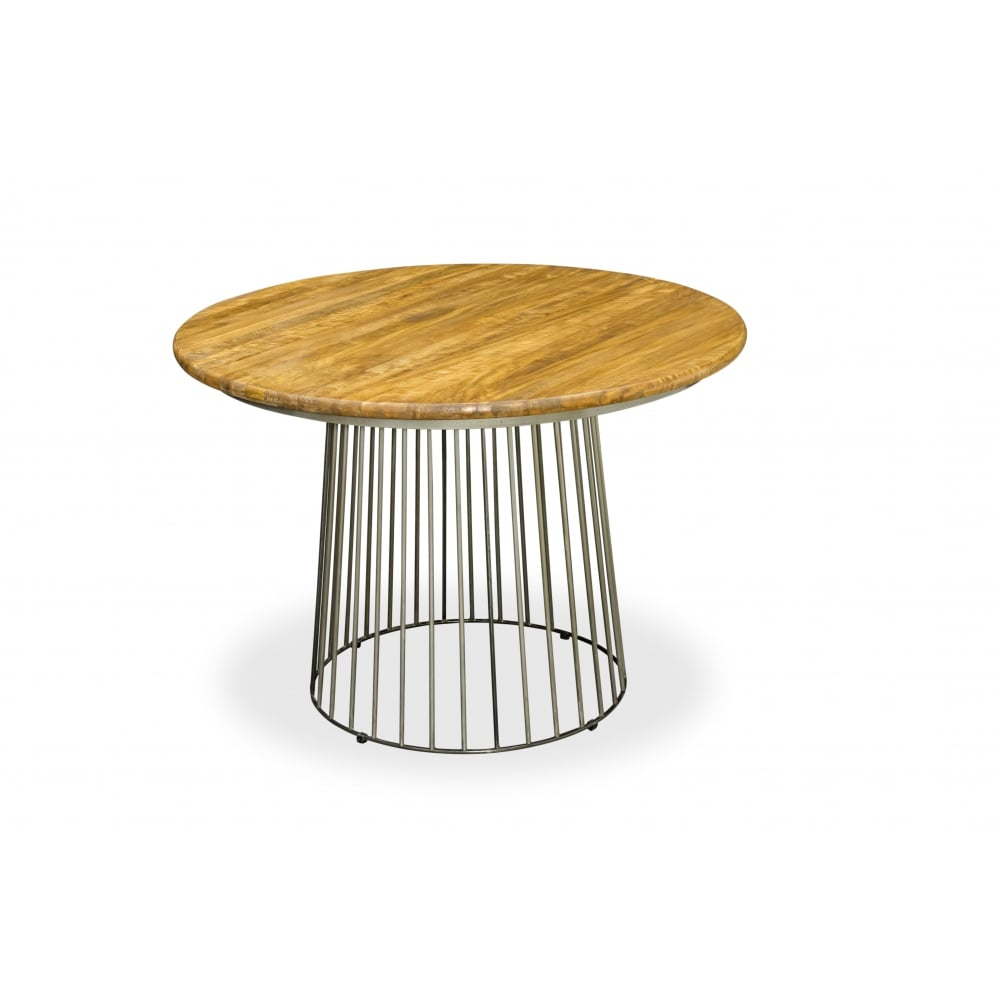 Mango Wood Birdcage Round Bistro Dining Table Mango 110cm ...
