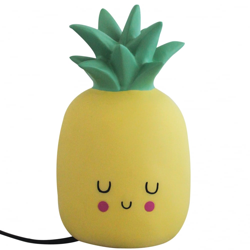 yellow kawaii led pineapple table lamp childrens night. Black Bedroom Furniture Sets. Home Design Ideas