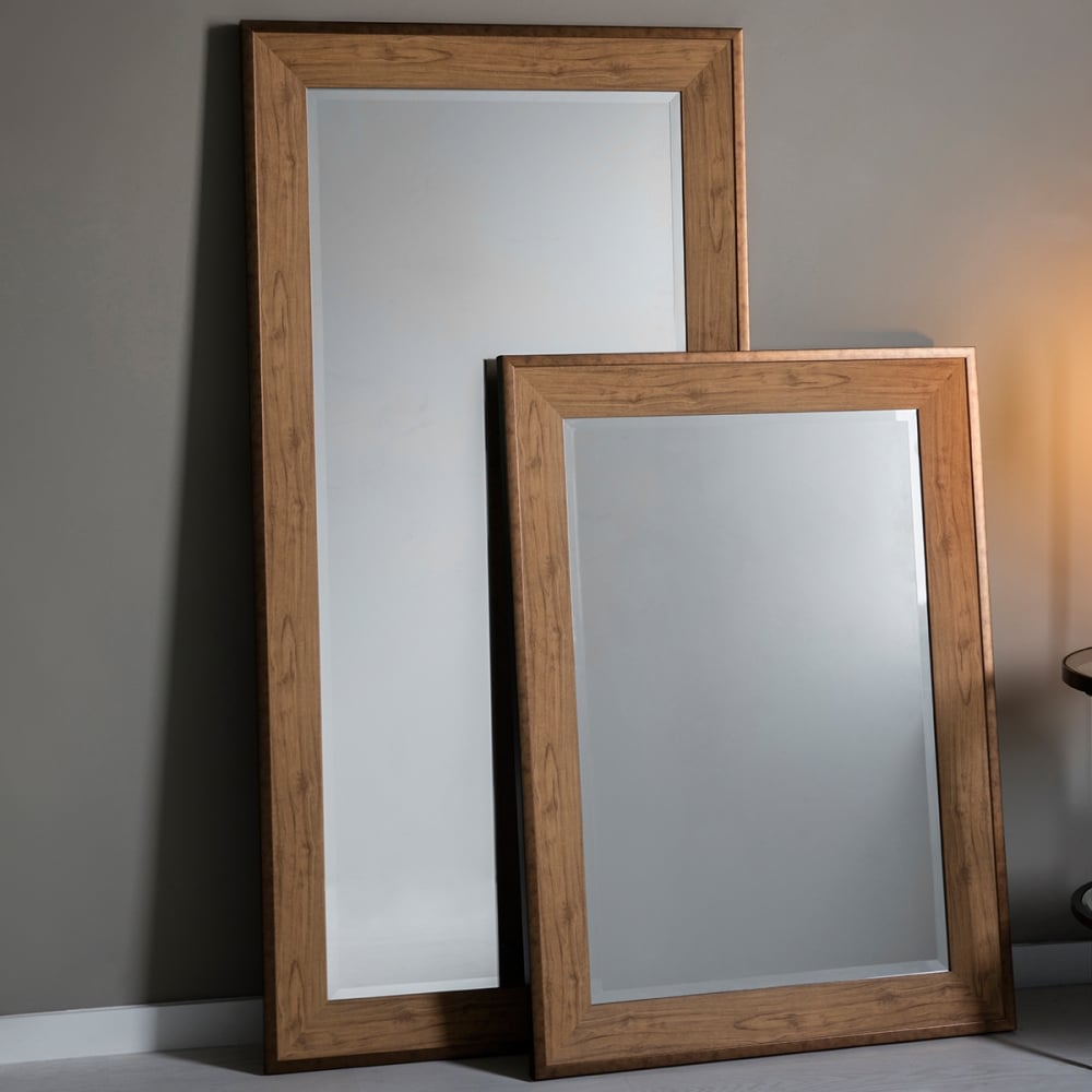 Wooden Full Length Cheval Mirror Oak Effect - Wooden Designs