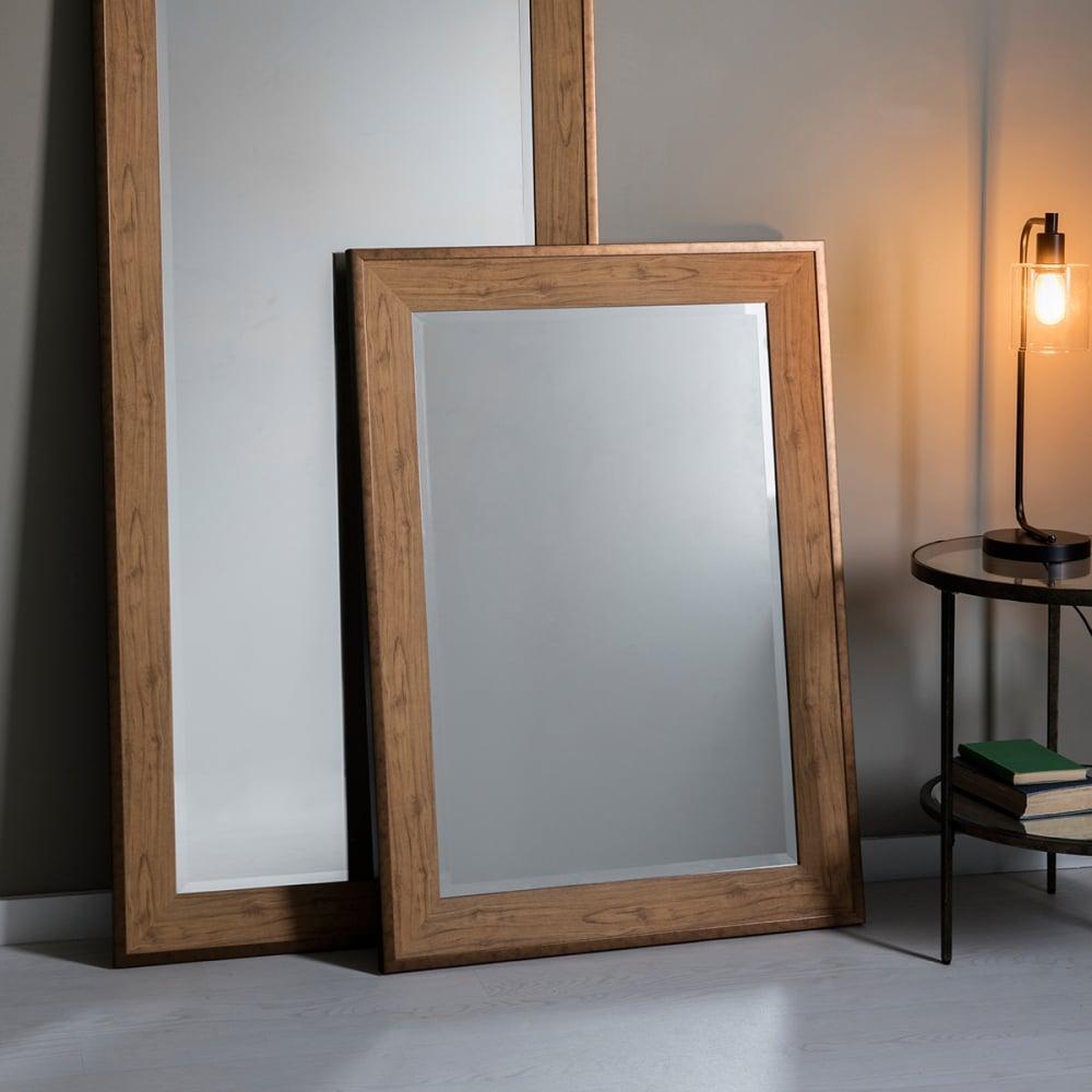 mirror effect furniture. stockholm rectangle wall mirror oak effect furniture c