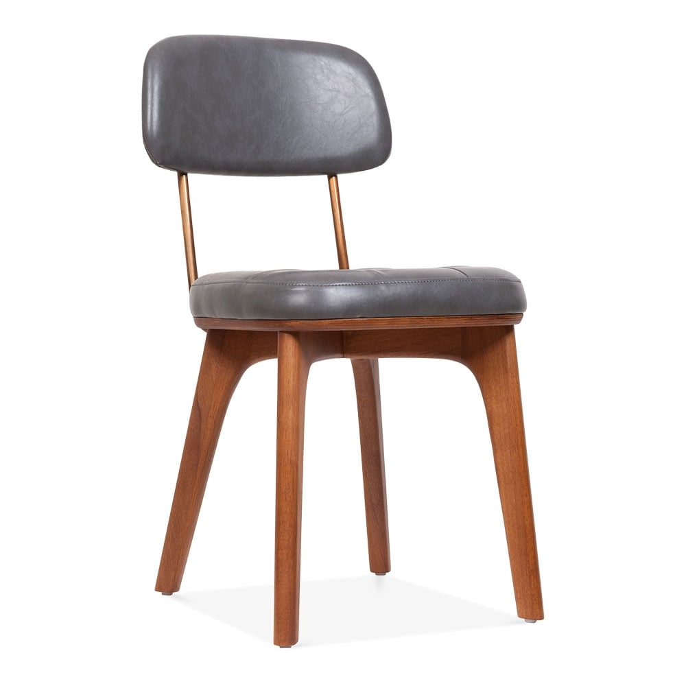 Upholstered Kitchen Stools Uk: Winchester Upholstered Wooden Dining Chair In Grey