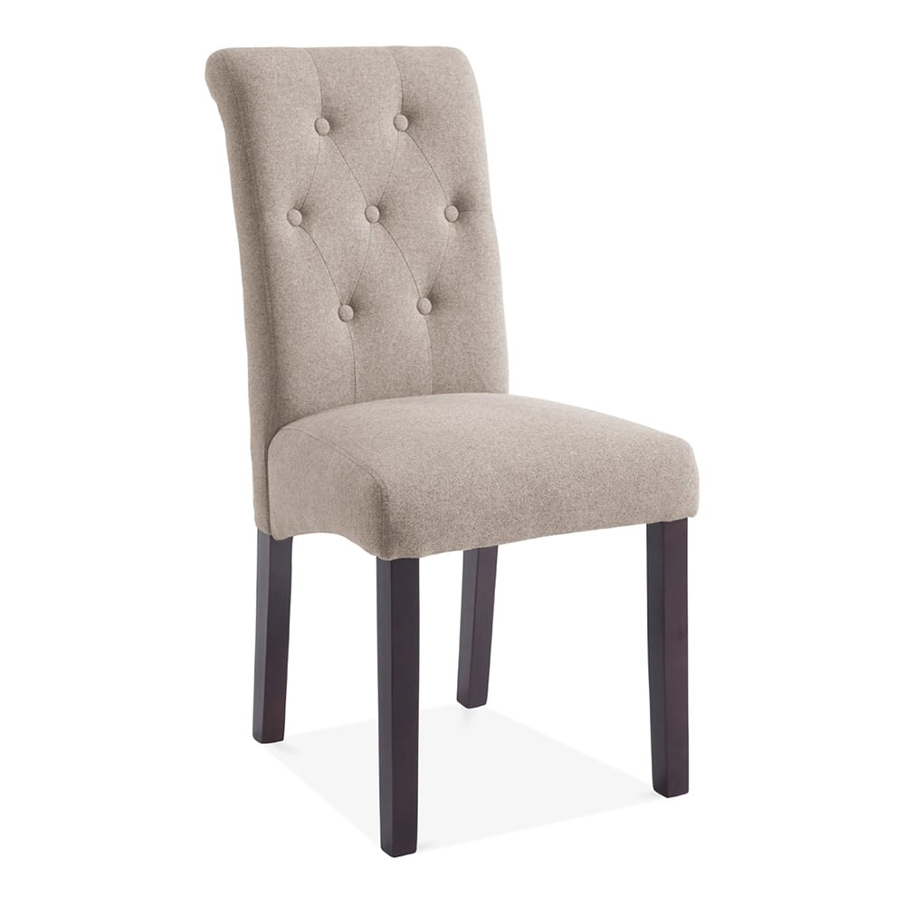 Belgrave High Back Dining Room Chair Cream Button Back