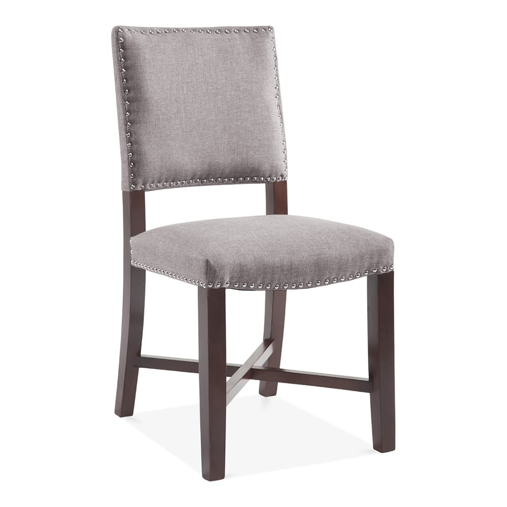 Cult Living Leicester Dining Chair Wool Upholstered Light Grey