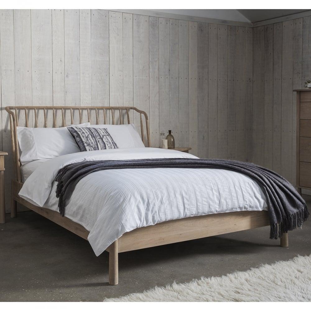 Alpine king size oak bed frame modern oak bedroom furniture for King size bedroom set with mattress