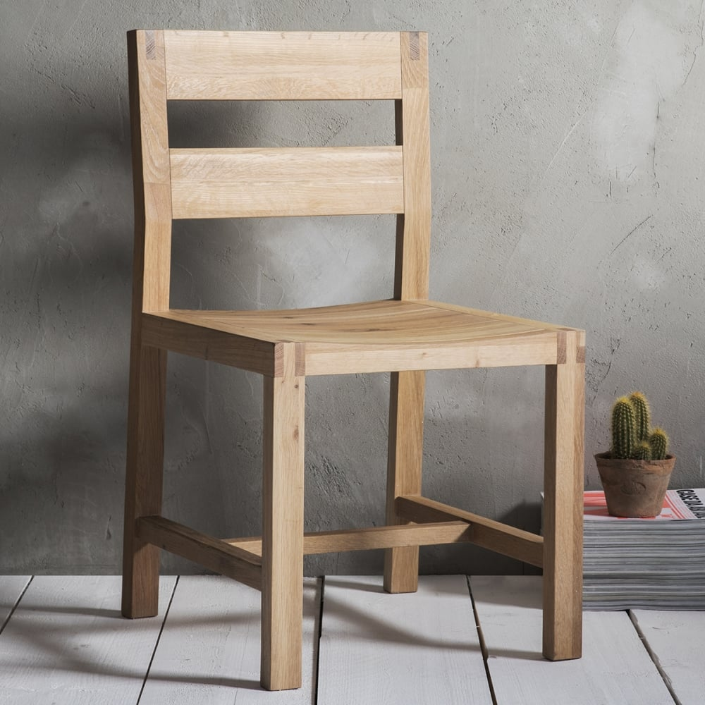 waldorf ladder back dining chairs set of 2 oak