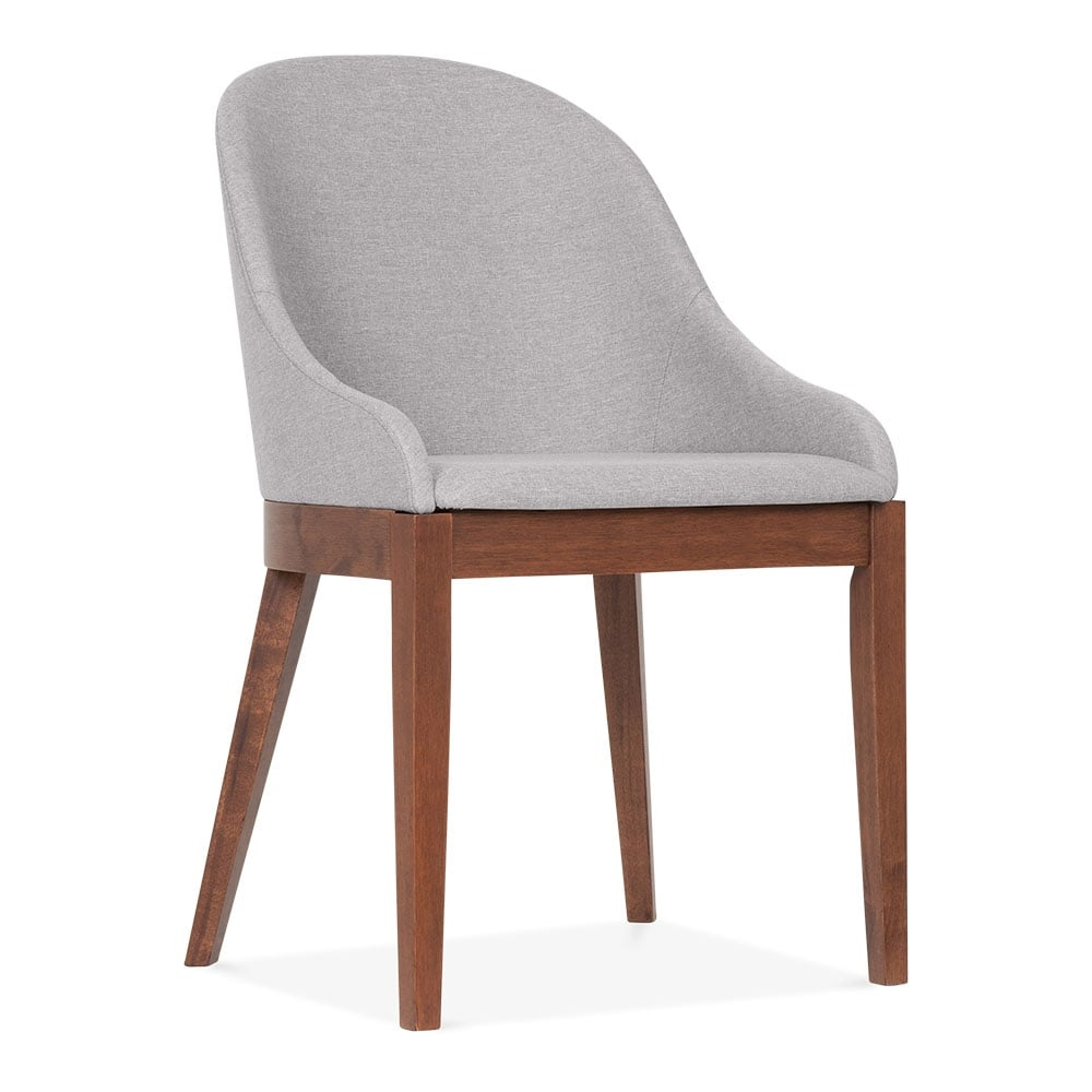 Forenzi light grey upholstered dining chair cult for Upholstered dining chairs