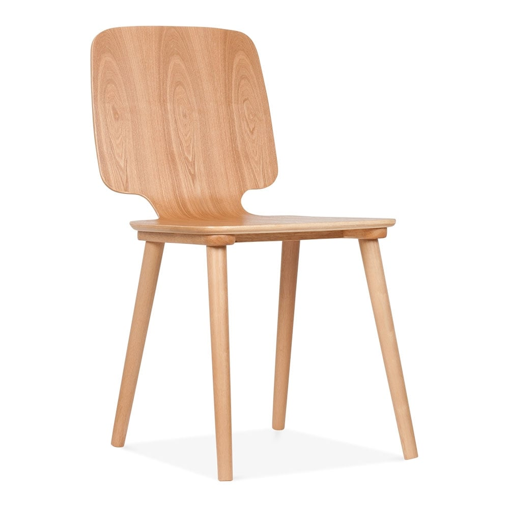Doris natural wooden dining chair cult furniture - Cult furniture ...