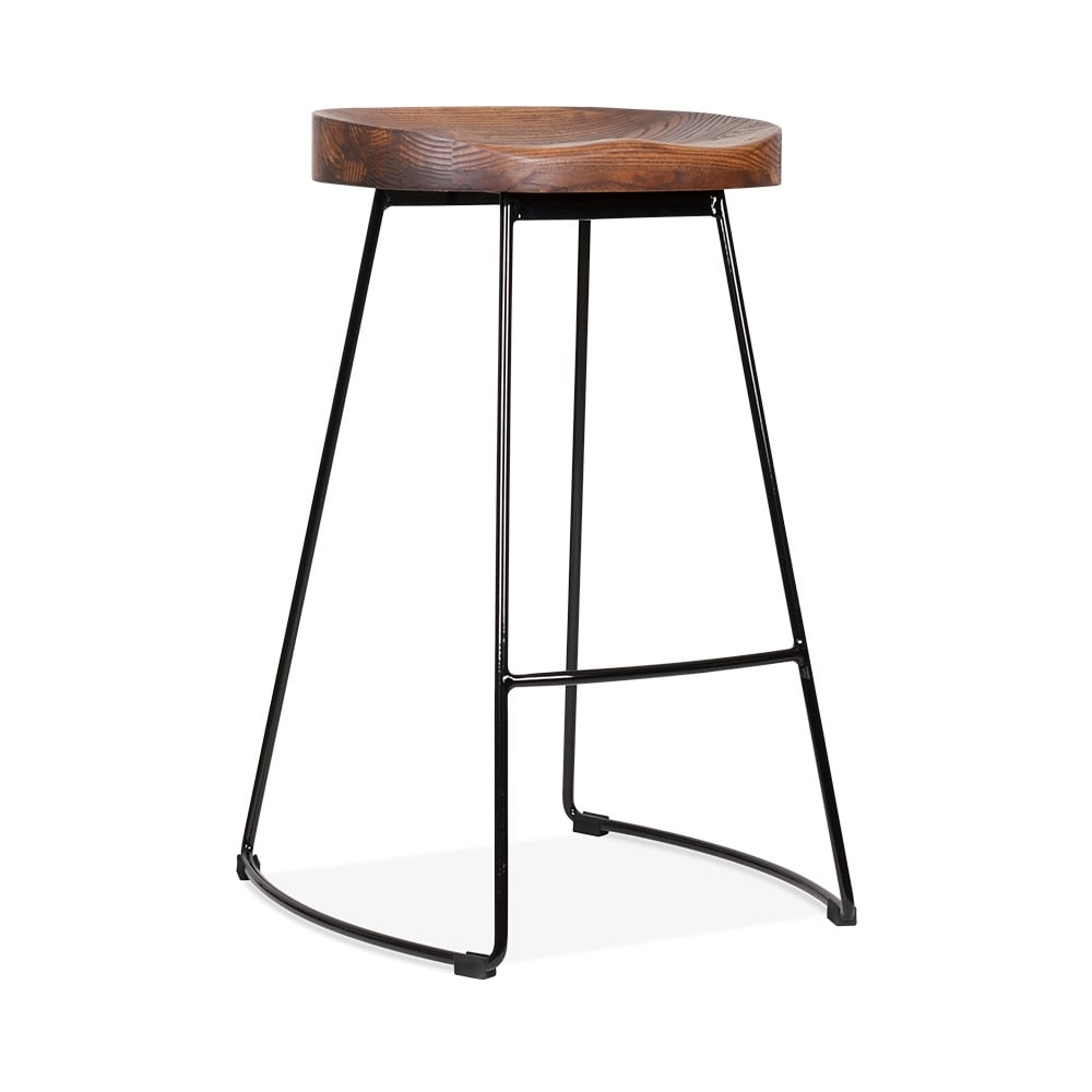 Black 65cm victoria metal bar stool kitchen stools cult uk for Bar stools clearance