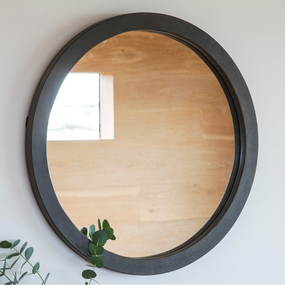 Abra modern round wall mirror concrete contemporary wall Modern round mirror
