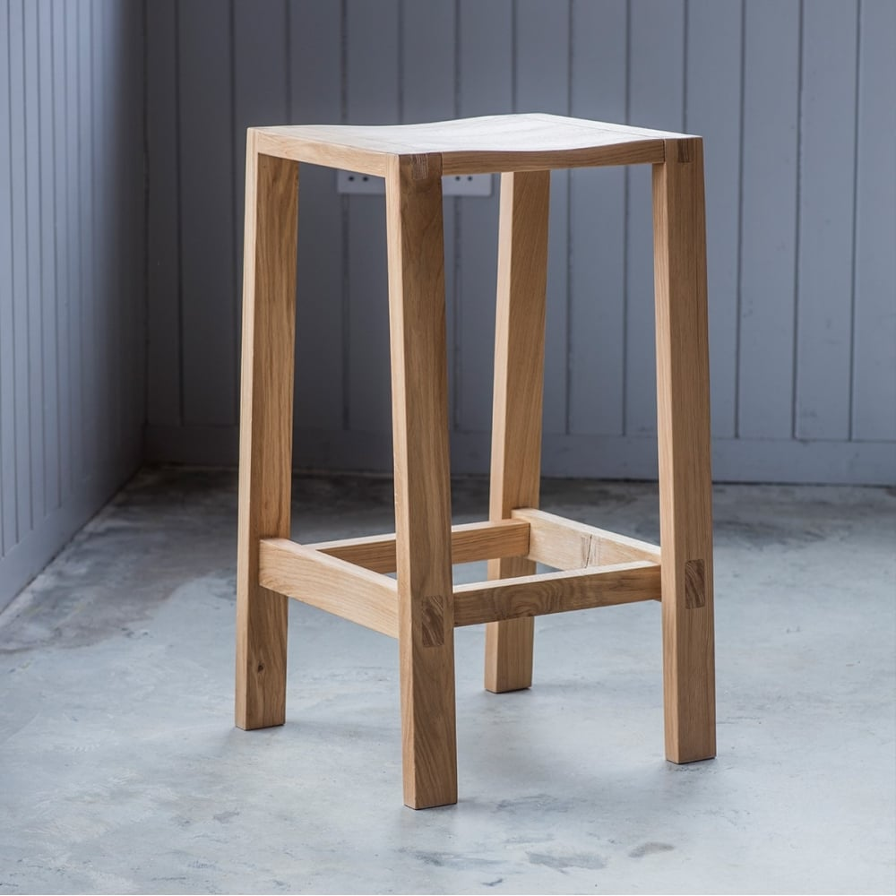 Waldorf Contemporary Oak Breakfast Bar Stool Kitchen Stools