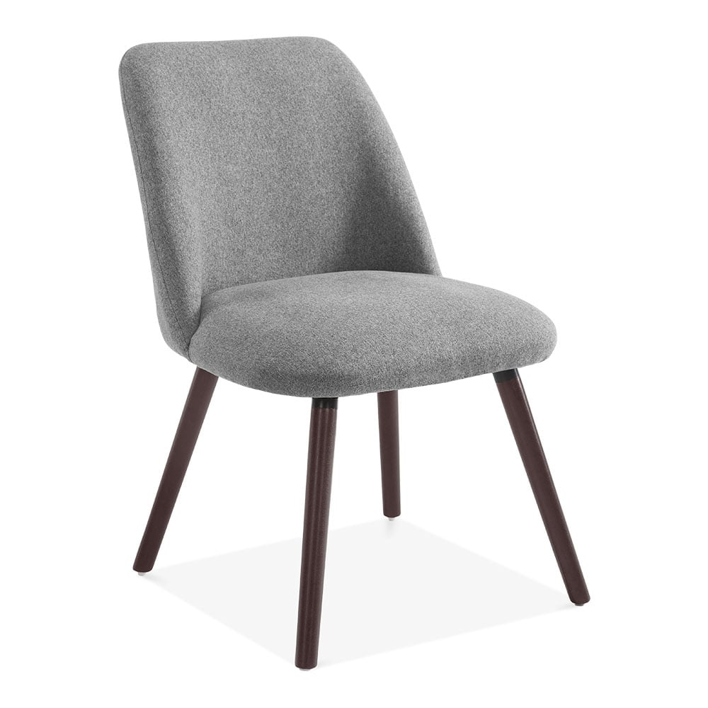 Hanover sleek scandinavian dining chair grey fabric cult uk - Scandinavian chair ...
