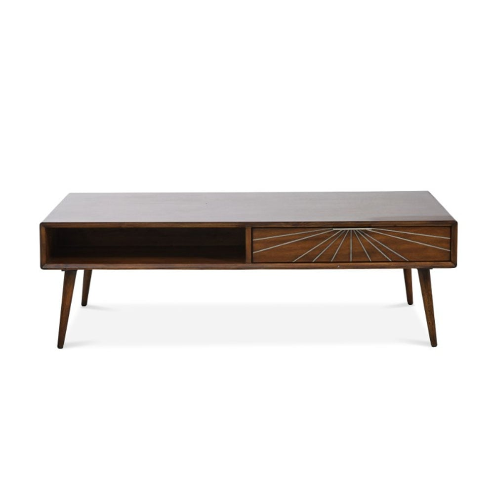 Aspen Brown Wood Coffee Table Cult Furniture