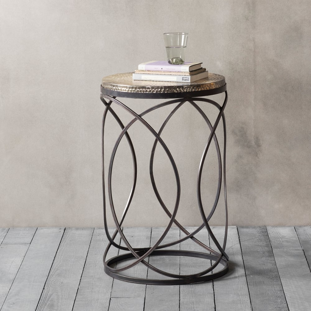 montana contemporary metal side table modern side tables. Black Bedroom Furniture Sets. Home Design Ideas