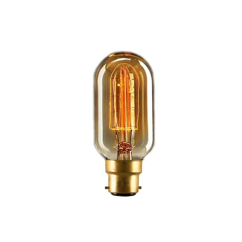 T45 Dimmable Small Tube B22 Filament Light Bulb 40w Edison Bulbs