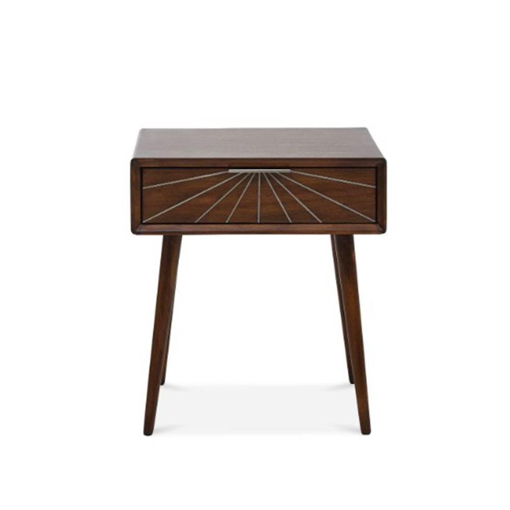 Aspen brown wood lamp table cult furniture uk aspen lamp table solid acacia dark brown mozeypictures Images