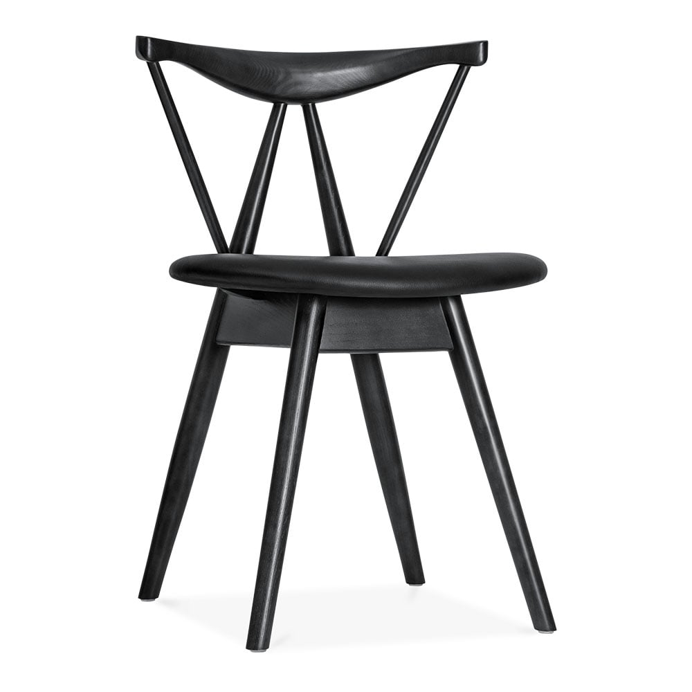 black kite wooden dining chair with pu seat restaurant. Black Bedroom Furniture Sets. Home Design Ideas