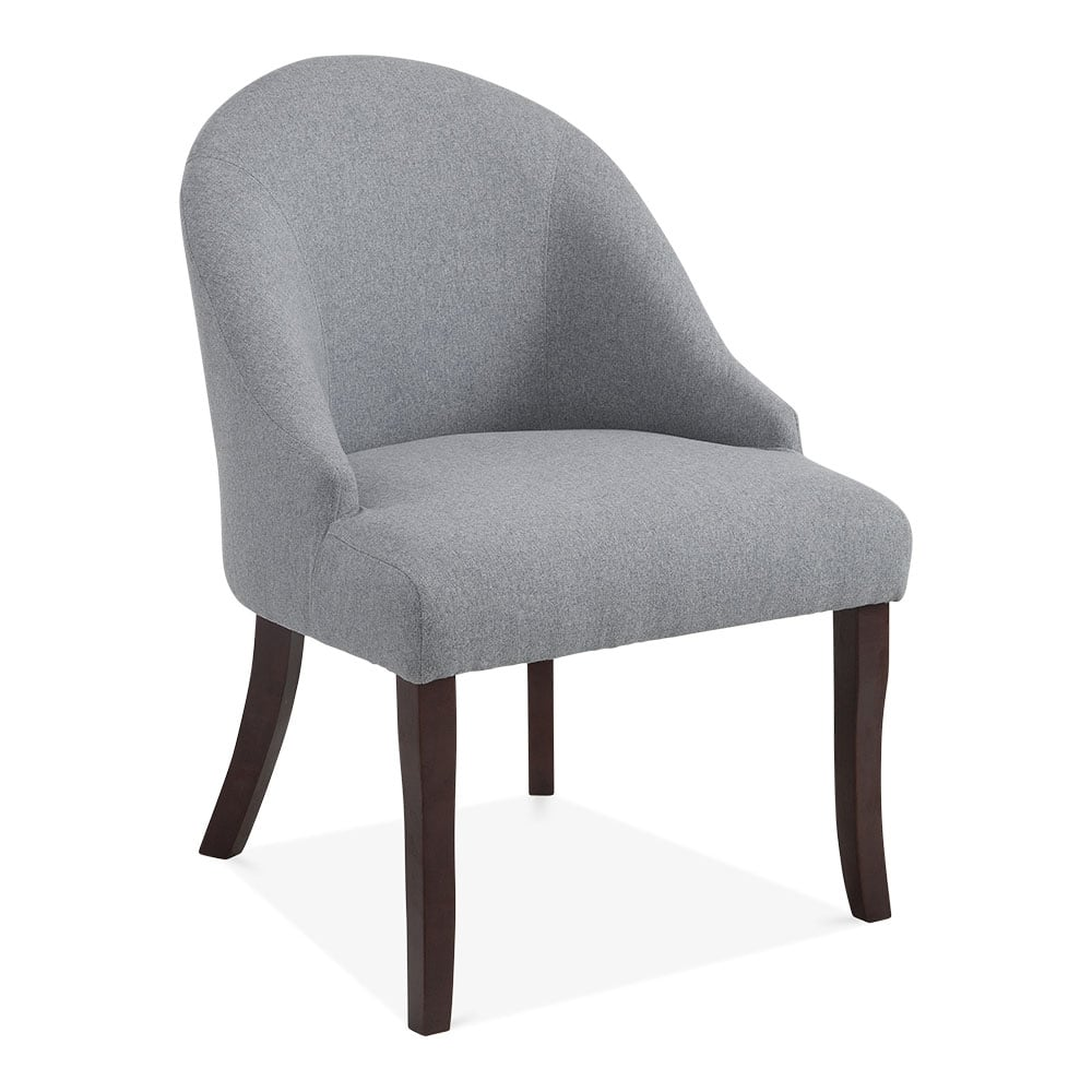 Grey Wool Upholstered Harlow Accent Chair Modern Dining