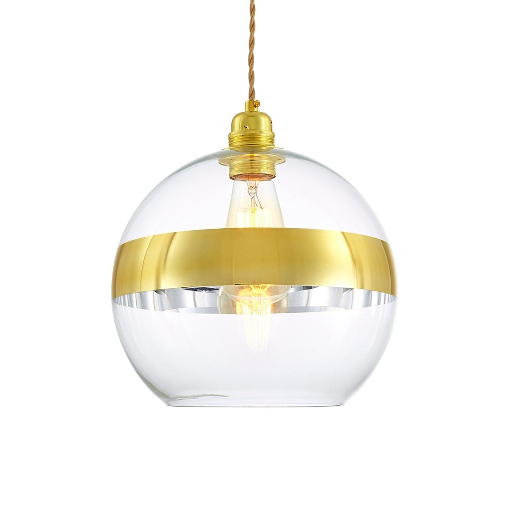 Gold Aroma Sphere Glass Pendant Light