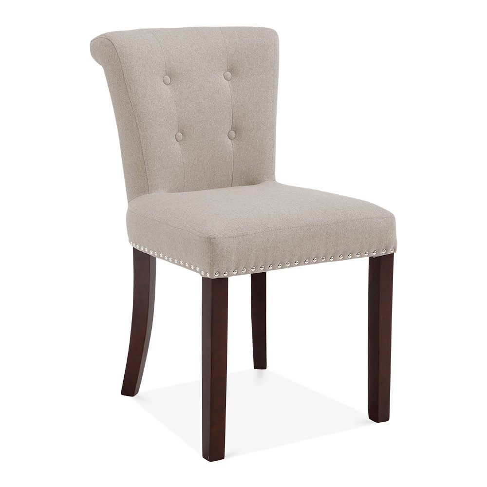 cream wool upholstered balmoral dining chair modern