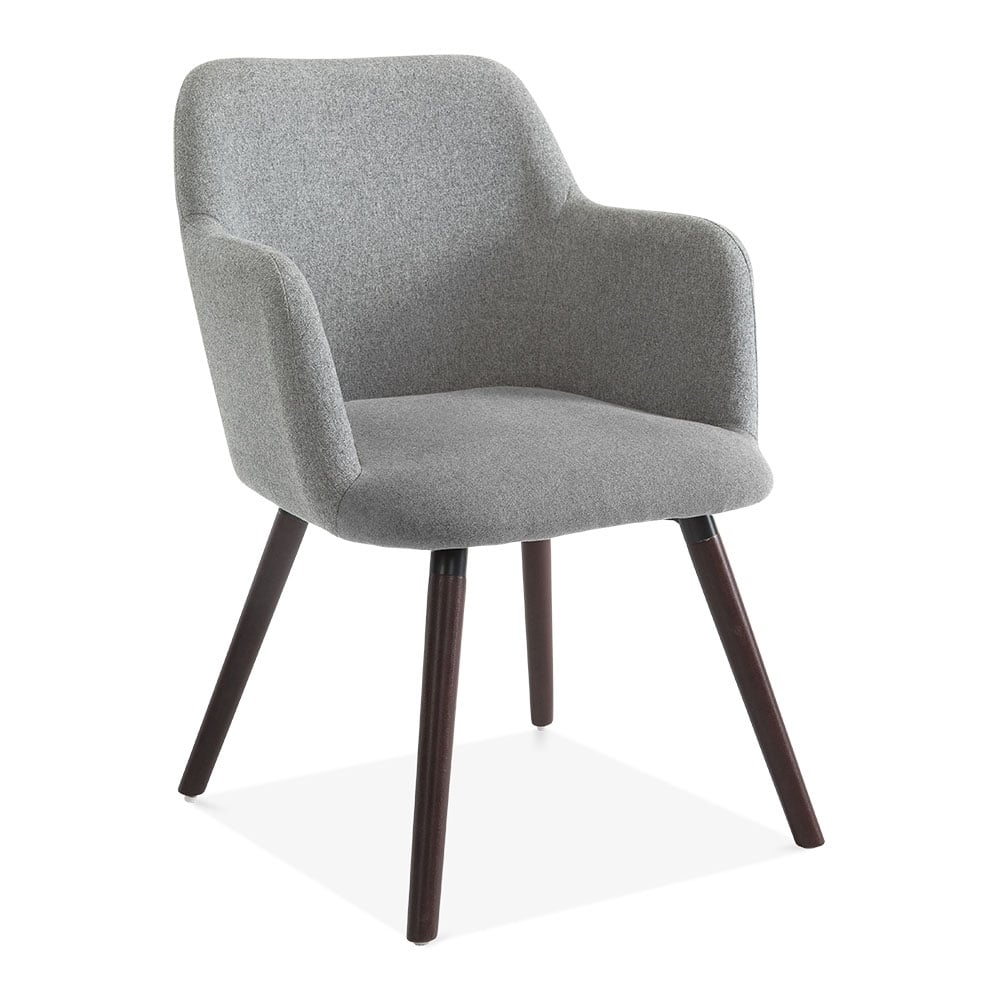 Grey Wool Upholstered Hanover Small Armchair