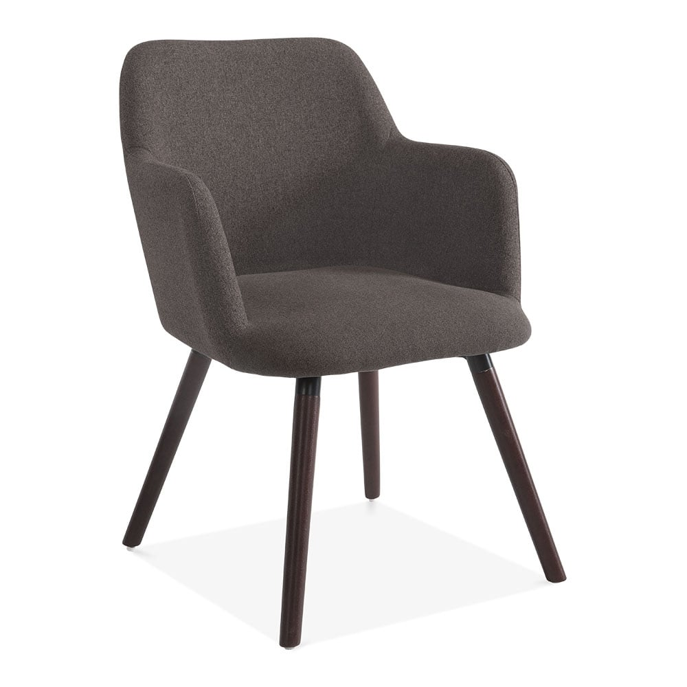 dark grey wool upholstered hanover small armchair modern