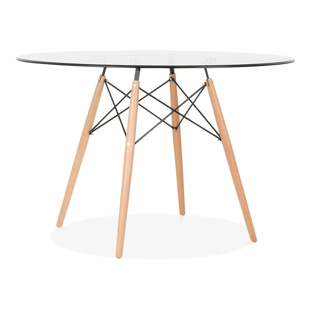Eames 110cm Dsw Glass Table With Option Brace Legs Cult