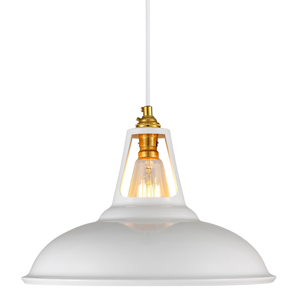 Cult Living Dulwich White Industrial Pendant Lamp