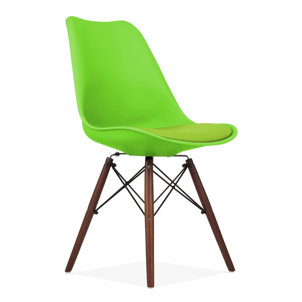 Lime Green Dining Chairs Lime Green Soft Pad Dining Chair With Dsw Style Natural Wood Legs