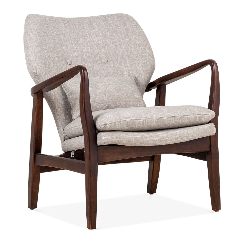 hampton armchair fabric upholstered grey cult furniture. Black Bedroom Furniture Sets. Home Design Ideas