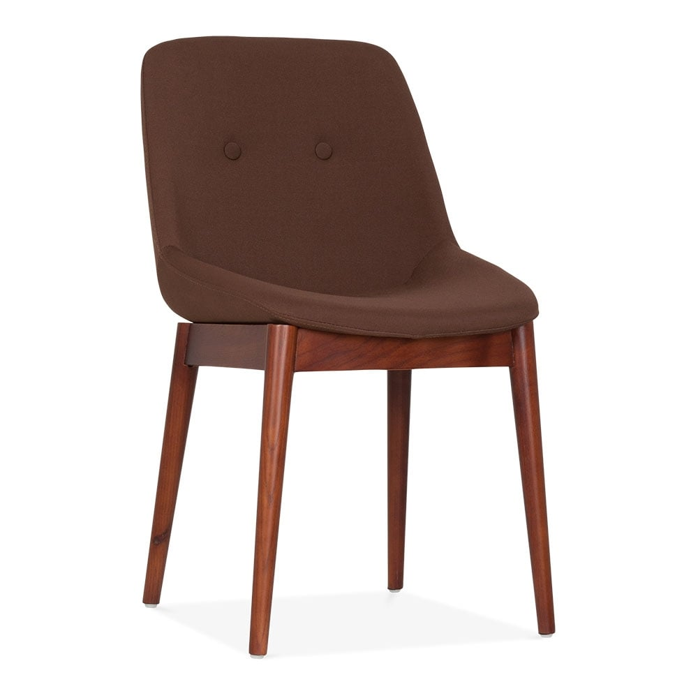 Bursa vintage style dining table chair brown fabric - Dining table and fabric chairs ...