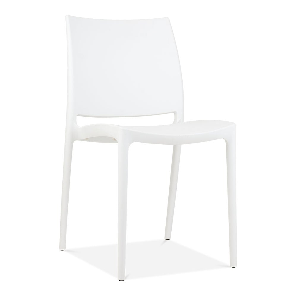Plastic outdoor chair - Cult Living Eden Plastic Outdoor Chair White