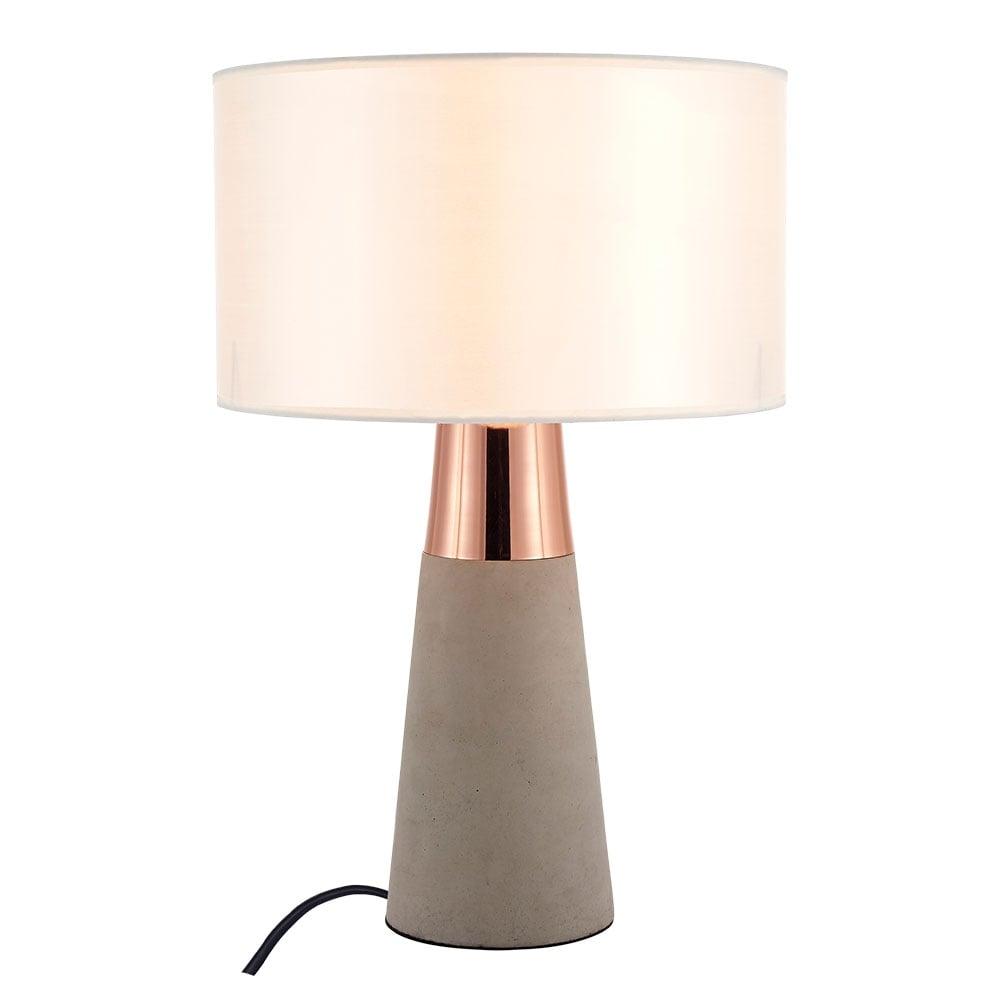 Copper ashburn concrete table lamp contemporary lighting cult living ashburn concrete table lamp copper mozeypictures Gallery
