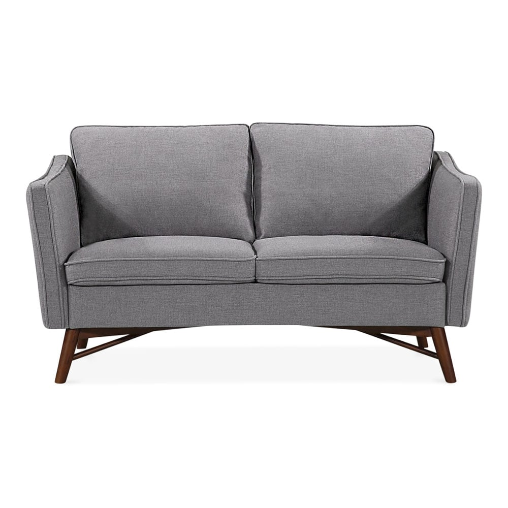 Lounge sofa 2 sitzer outdoor  Grey Fabric Upholstered Walton Two Seater Sofa | Modern Sofas