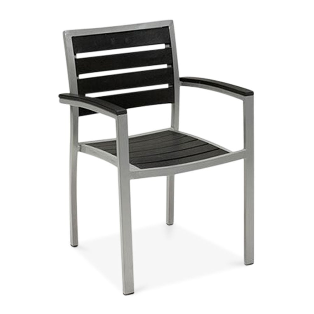 Black Milan Metal Outdoor Dining Armchair Patio Amp Garden