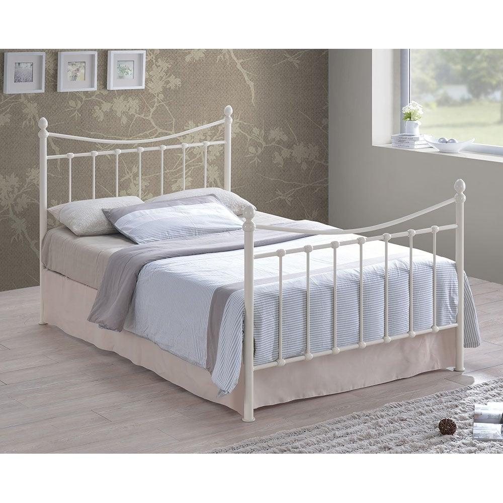 Cream Metal Stella Vintage Double Bed Frame | Metal Bed Frames