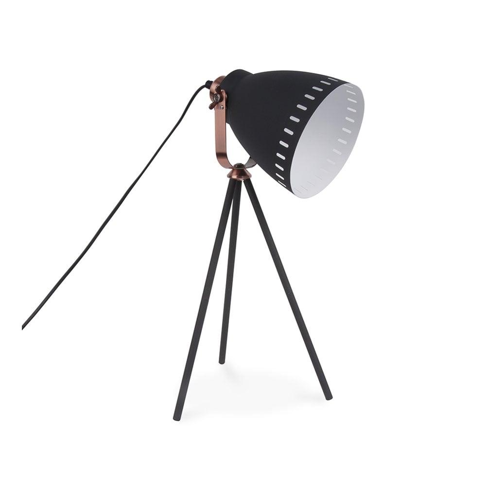 Black mingle metal tripod table lamp table lamps desk lamps leitmotiv mingle metal tripod table lamp black geotapseo Choice Image