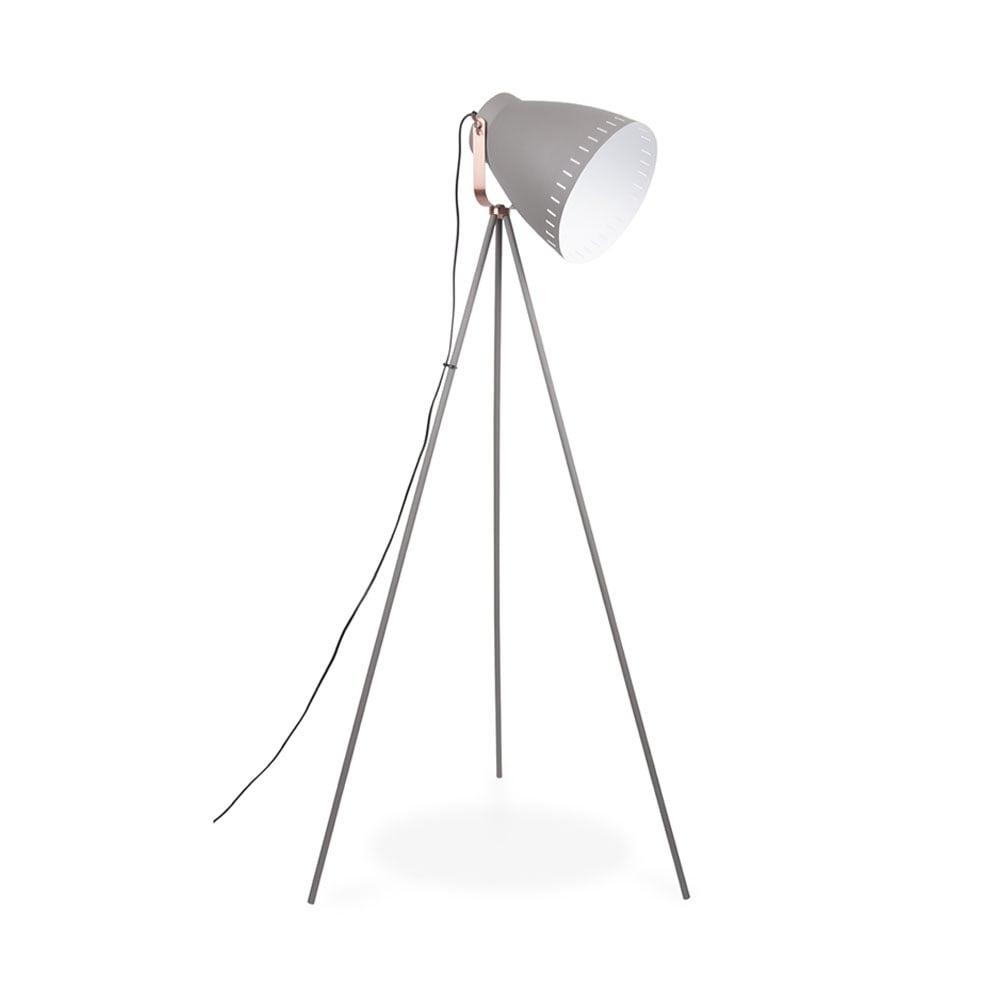 Grey Mingle Metal Tripod Floor Lamp| Modern Floor Lamps