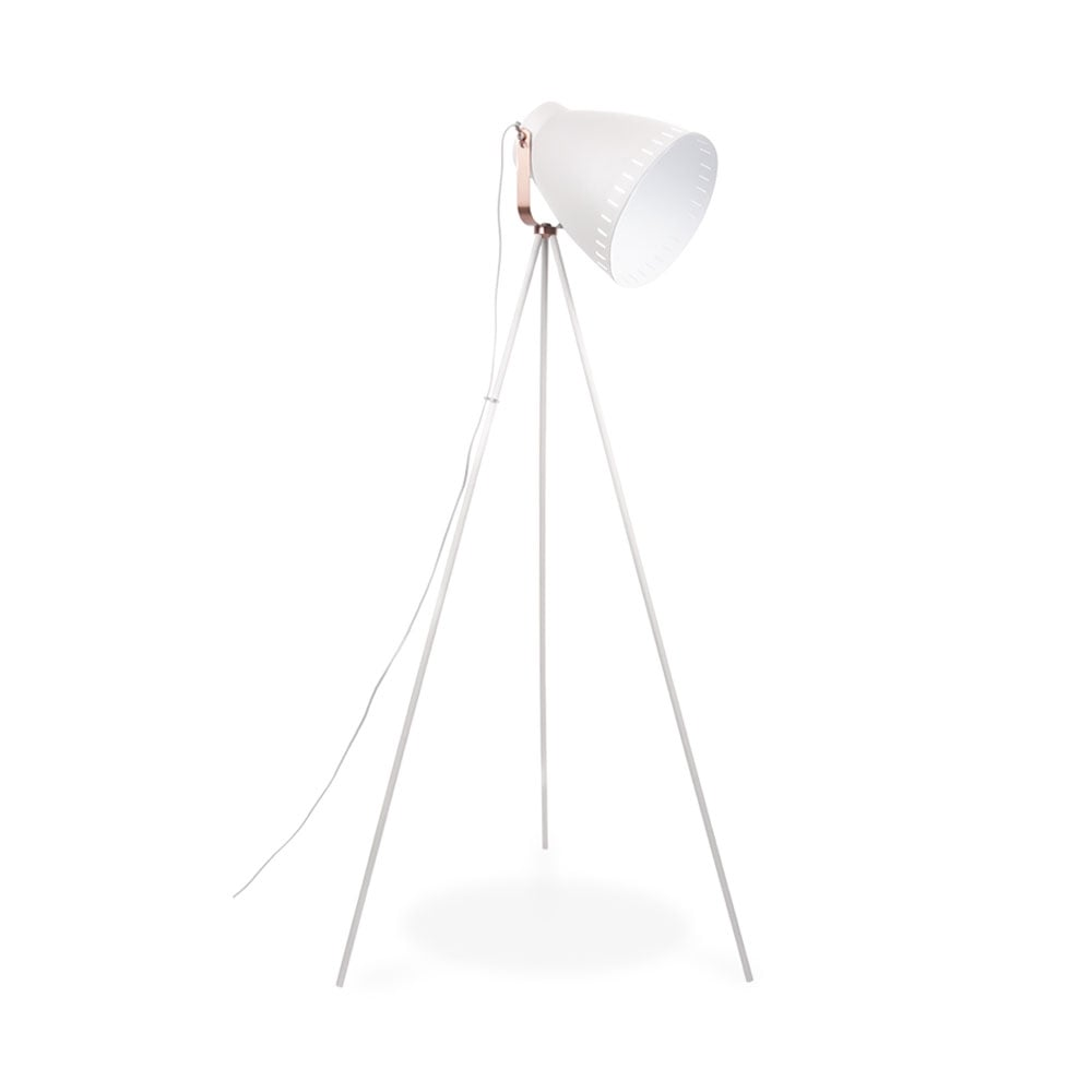 White mingle metal tripod floor lamp modern floor lamps leitmotiv mingle metal tripod floor lamp white geotapseo Choice Image
