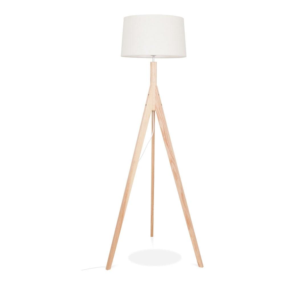 natural solid wood cleo tripod floor lamp living room. Black Bedroom Furniture Sets. Home Design Ideas