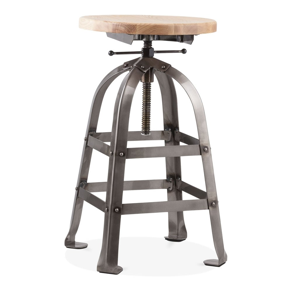 Vintage Industrial Swivel Stool - Gunmetal 65-82cm. u2039  sc 1 st  Cult Furniture & Vintage Industrial Swivel Stool Gunmetal 65-82cm | Cult UK islam-shia.org