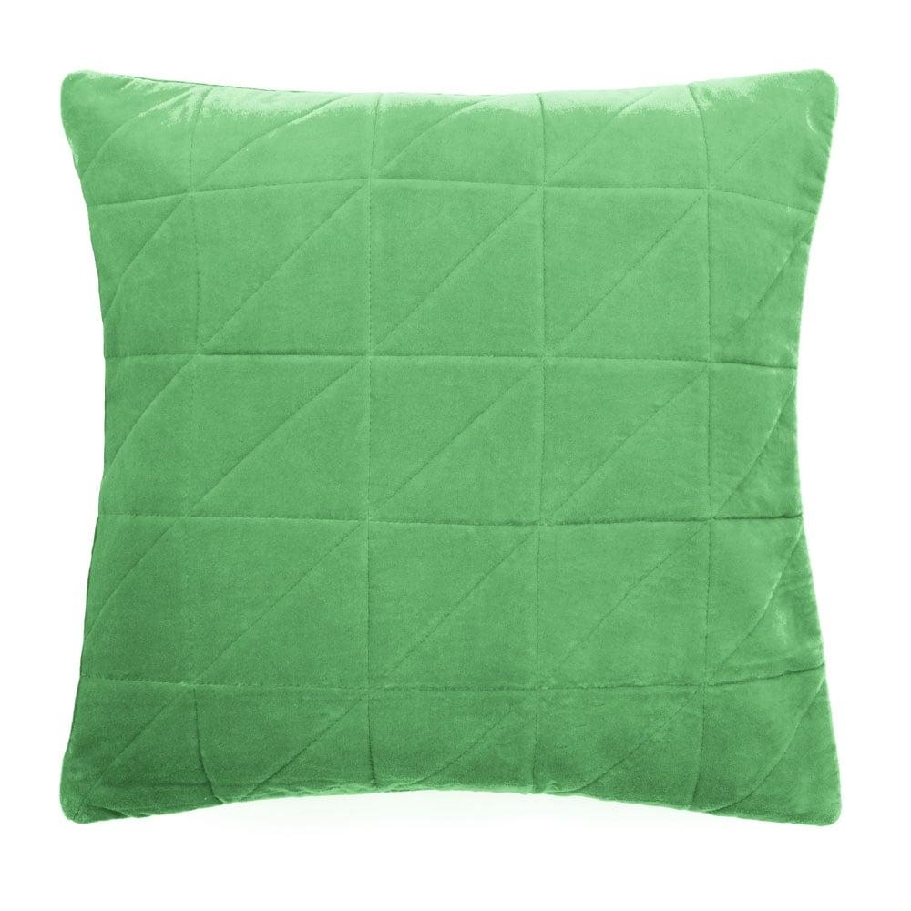 Light Green Velvet Quilted Cushion | Sofa Cushions & Scatter Cushions : quilted cushions - Adamdwight.com
