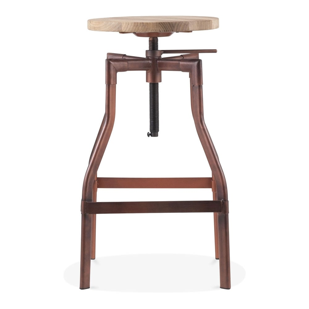 Industrial Swivel Adjustable Stool Copper 62cm Cult Uk