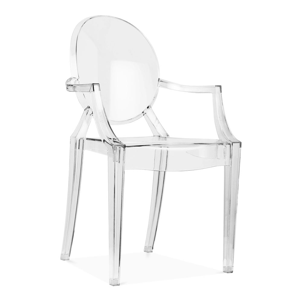 Clear Ghost Style Louis Armchair | Modern Armchairs | Cult UK